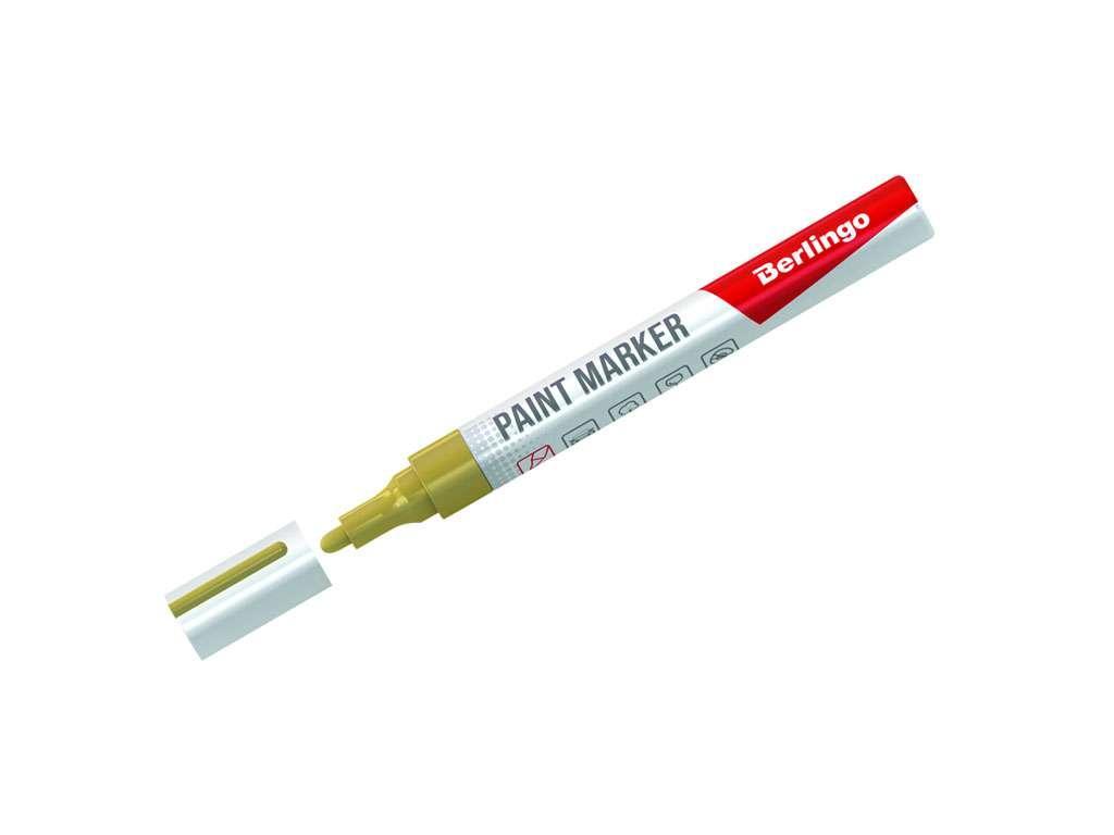 Маркер-краска BERLINGO 2-4 мм, золотой