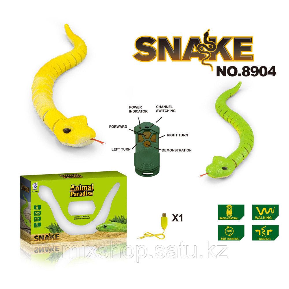 Змея на инфракрасном управлении размером 46*4,5*4 см.