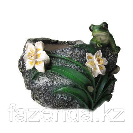 Зоокашпо Камень с лягушкой Н-21 см