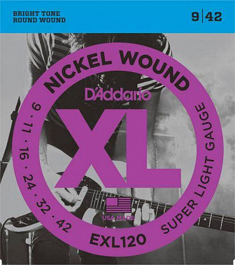 Струны для электрогитары Daddario EXL 120