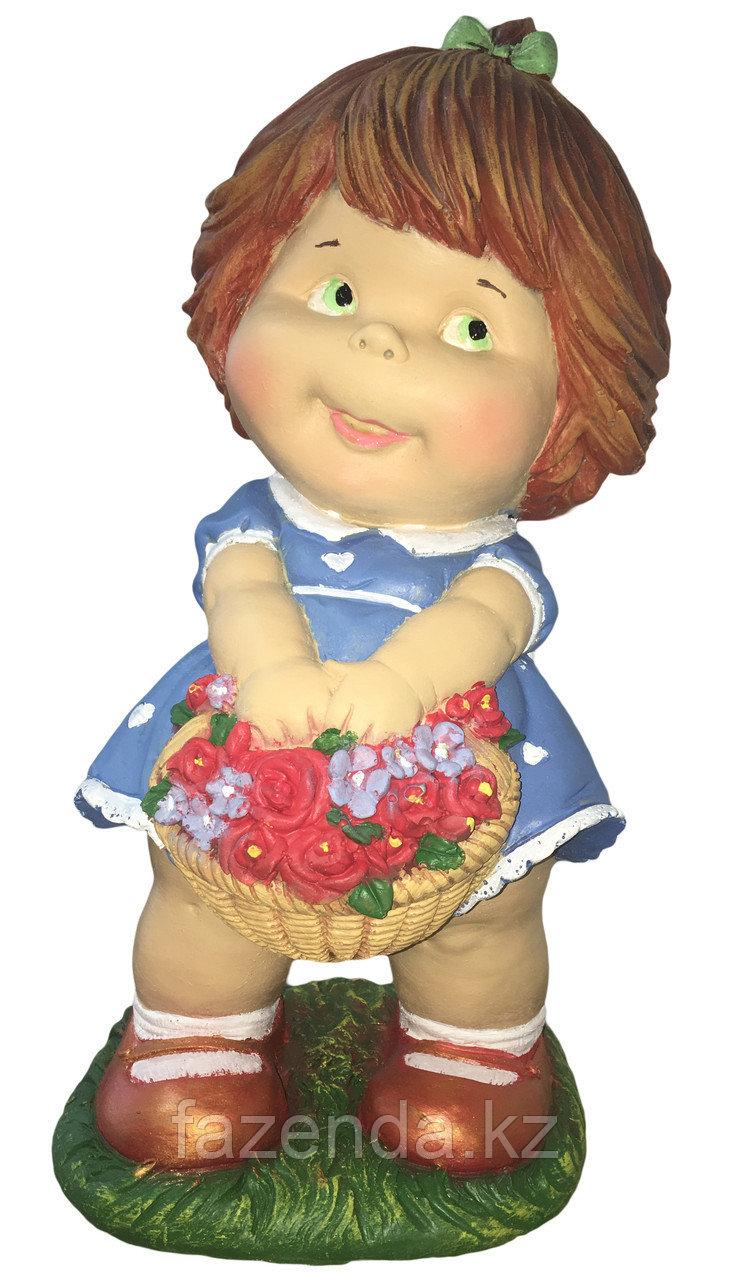 Девочка с цветами Н-46см