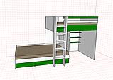 Кровать детская двухъярусная с нишей(домиком) для игр, фото 7