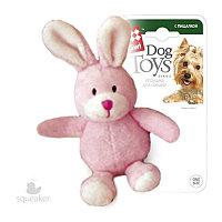 Игрушка для собак зайчик с пищалкой 11см GiGwi арт.75119