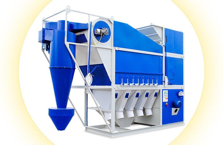 Сепараторы САД. Очистка и калибровка зерна по удельному весу.