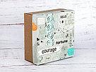 """Подарочная коробка """"Кураж"""". Размер: 20*20*9, фото 4"""