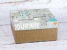 """Подарочная коробка """"Кураж"""". Размер: 20*20*9, фото 3"""