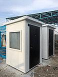 Охранные будки из сэндвич панелей 1,5*1,5*2,6 м, фото 3