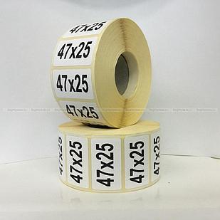 Термоэтикетка самоклеющаяся 47*25 мм (2000 эт/рул)