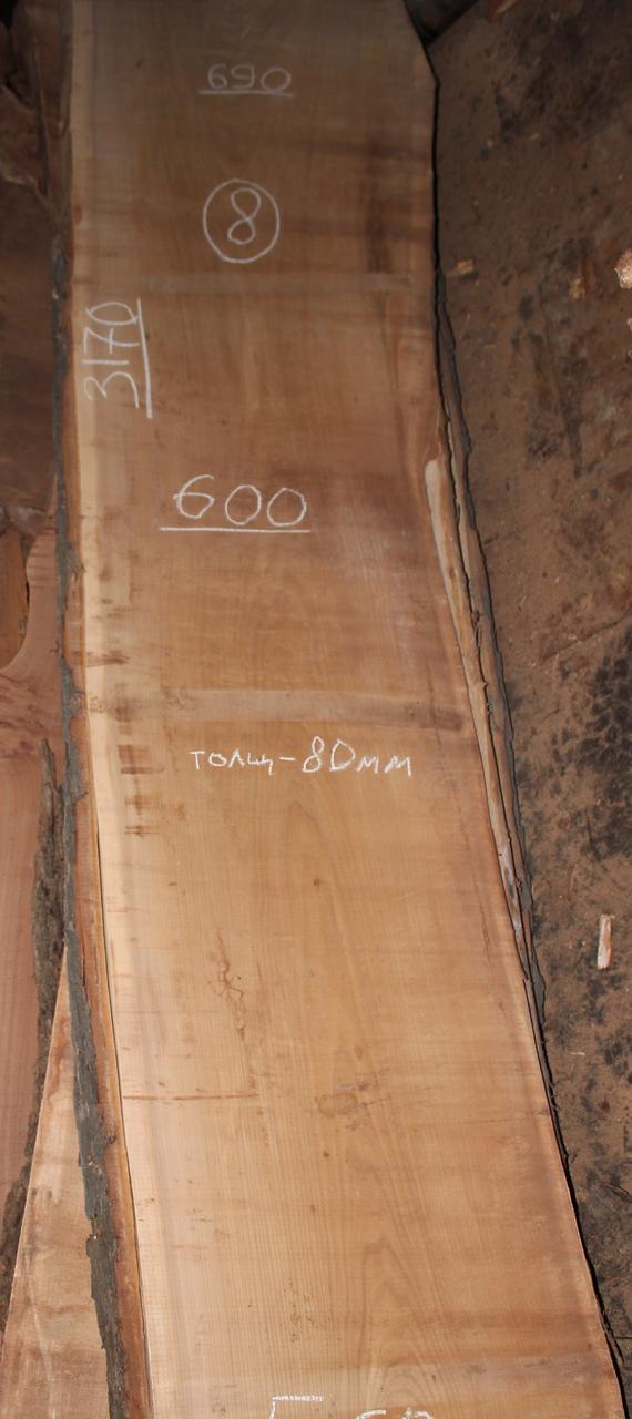 Слэб из карагача 8 (3170 х 800 х 80 мм)