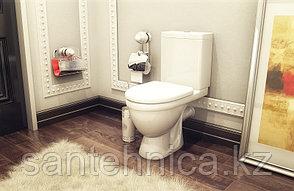 """Унитаз-компакт """"Неро Люкс"""" Rosa Белый горизонтальный выпуск нижний подвод воды микролифт, фото 2"""