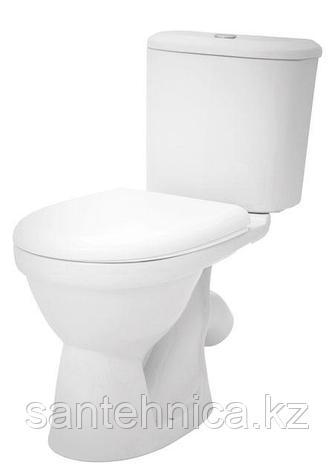 """Унитаз-компакт """"Бореаль"""" Santek Белый косой выпуск нижний подвод воды дюропласт микролифт, фото 2"""