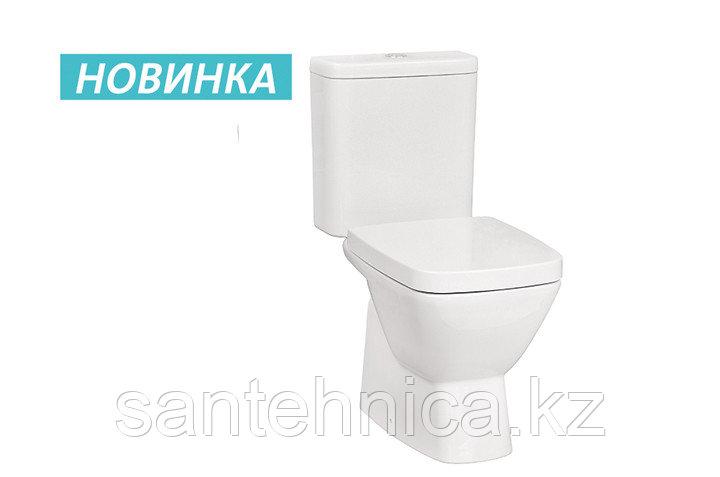 """Унитаз-компакт """"Нео"""" Santek Белый горизонтальный выпуск нижний подвод воды дюропласт"""