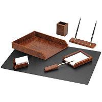 Набор настольный Delucci 7 предметов, коричневый орех MBn_07214