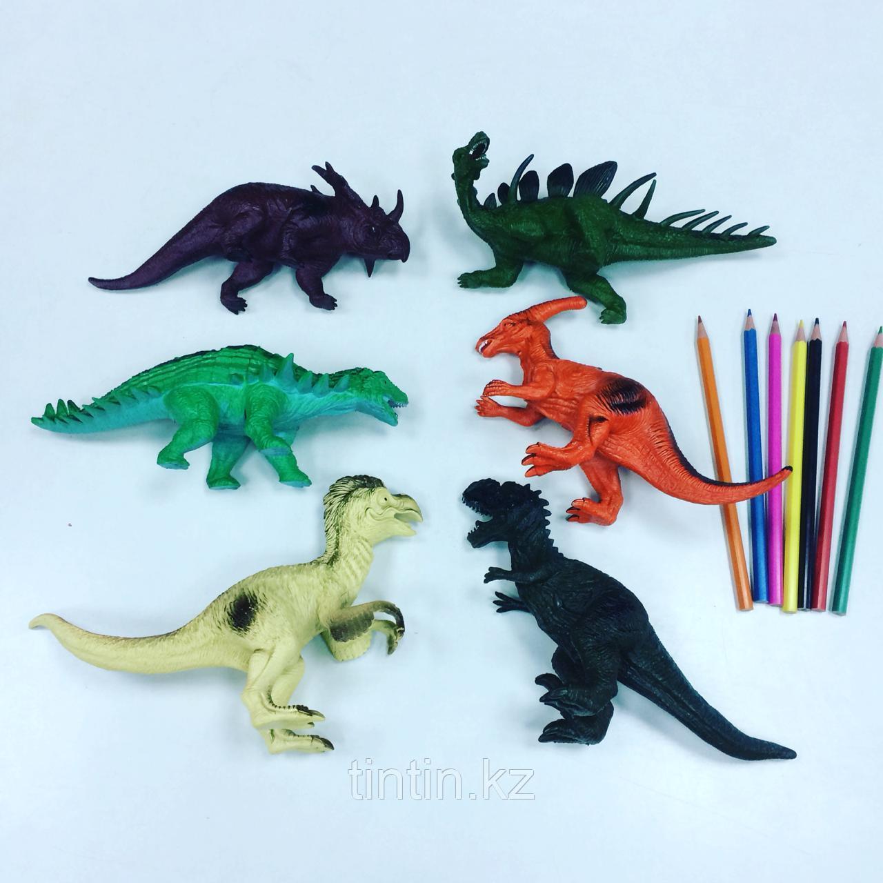 Набор из 6 резиновых динозавров