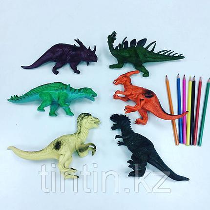 Набор из 6 резиновых динозавров, фото 2