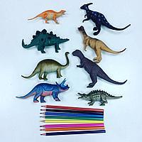 Набор из 8 резиновых динозавров