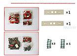"""Конструктор  аналог лего Lego 25807 AUSINI """"красный Поезд"""" Lepin 588 деталей, фото 4"""