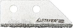 """Лезвие STAYER """"PROFI"""" сменное с карбидным напылением для скребка 33415, 2шт."""