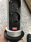 Розетка в столешницу выдвижная 3 розетки серый с проводом 1,5 метра GTV, фото 4