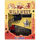 """Gonher: Набор """"Wild West"""", пластик. и металич. револьвер+кобура+значок020200"""