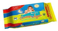 Влажные салфетки Aura Солнце и Луна 90 шт.