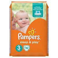 Подгузники Pampers Sleep&Play Midi 3 (5-9 кг) 16шт