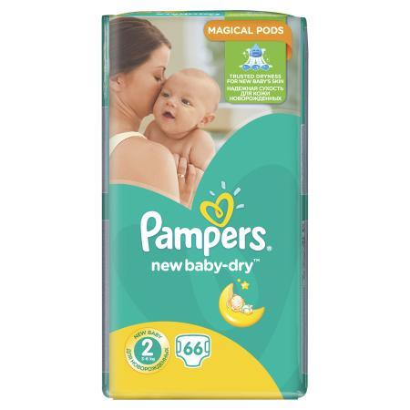 Подгузники Pampers New Baby-Dry Mini 2 (3-6кг) 66шт