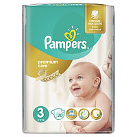 Подгузники Pampers Premium Care Midi 3 (5-9 кг) 20 шт