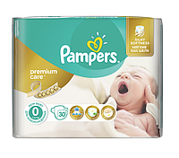 Подгузники Pampers Premium Care 0 (1-2,5кг) 30 шт.