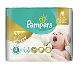 Подгузники Pampers Premium Care 0 (1-2,5кг) 30 шт.
