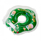 BABY SWIMMER Круг для купания ( 3-12кг) Зеленый  Полуцвет+внутри погремушка
