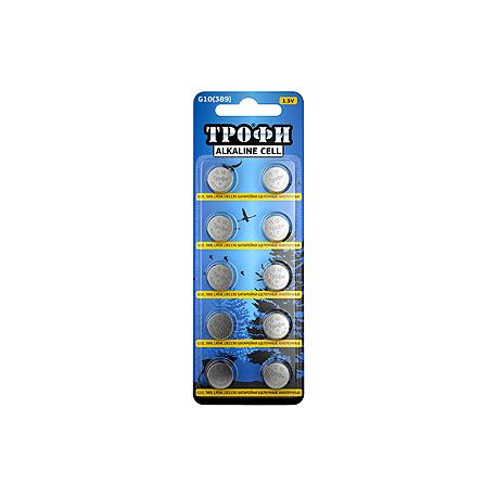 Батарейки G10 LR1130 LR54 Трофи