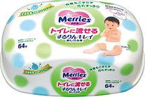 Влажная туалетная бумага д/детей Merries -64  (кейс)