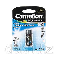 Батарейка, CAMELION, LR03-BP2DG, Digi Alkaline, AAA, 1.5V, 1250mAh, 2 шт., Блистер