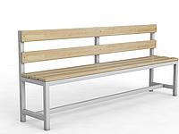 Скамейка для раздевалки со спинкой, фото 1