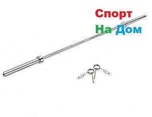 Олимпийский гриф для штанги длина 2.2 м. (вес-220 LB), фото 2