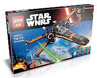 Конструктор Lepin 05004 аналог Лего LEGO 75102 Истребитель По STAR WARS 736 детали
