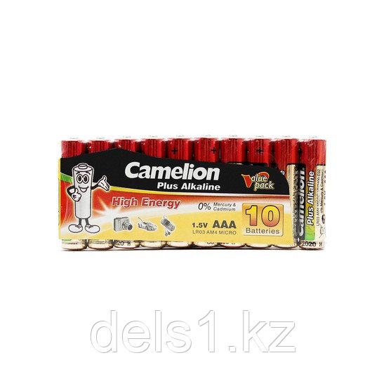 Батарейка, CAMELION, LR03-SP10-DA, Plus Alkaline, AAA, 1.5V, 1150 mAh, 10 шт., в плёнке