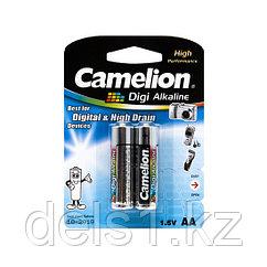 Батарейка, CAMELION, LR6-BP2DG, Digi Alkaline, AA, 1.5V, 2800mAh, 2 шт., Блистер