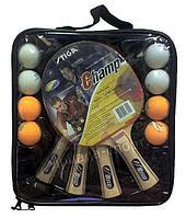 Набор Stiga Champ, 4 ракетки+8 мячей+сумка