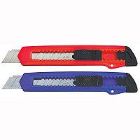 Нож канцелярский 18мм  Deli ассорти # 2001