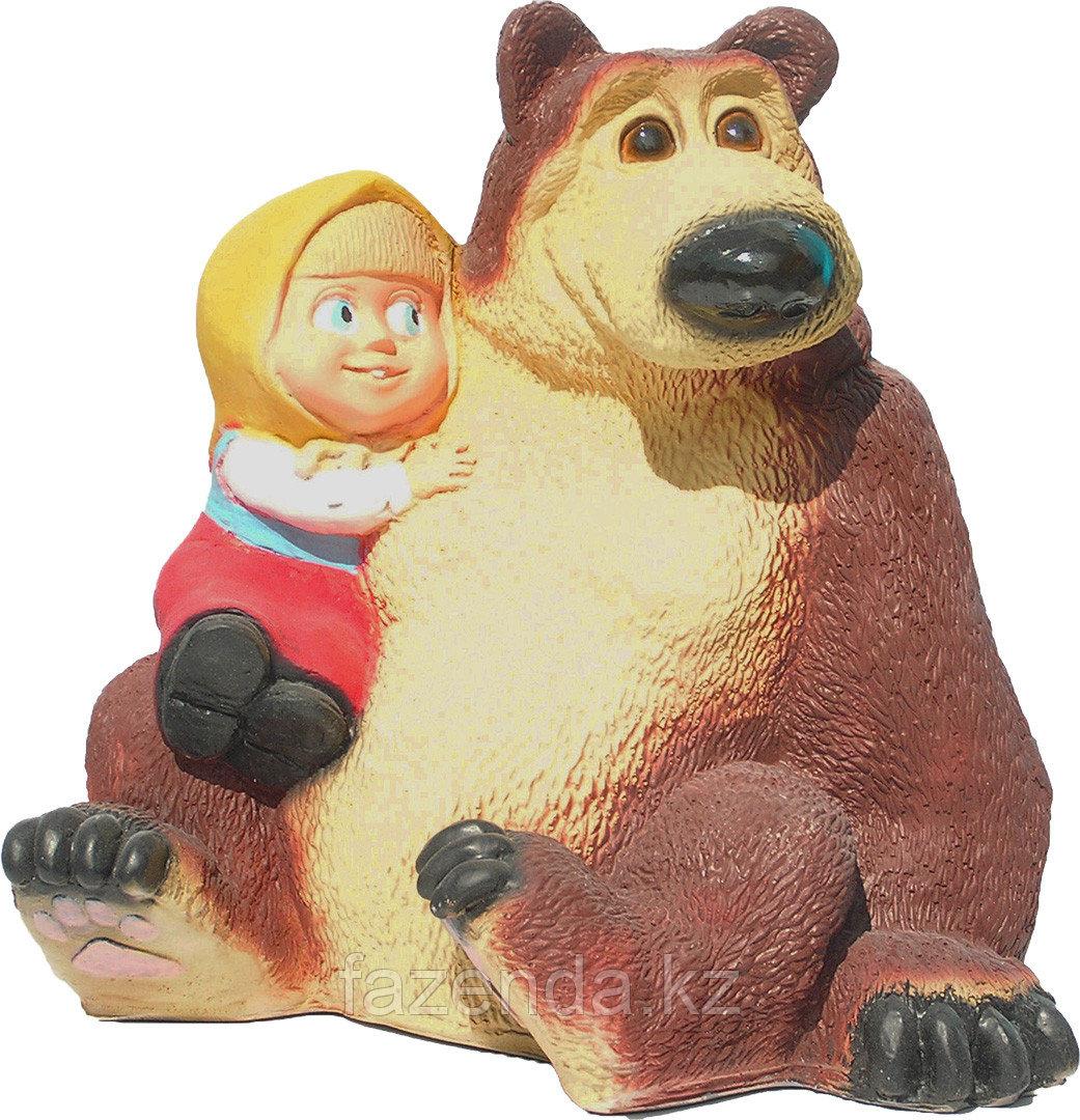 Медведь с девочкой H-33см