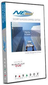 Paradox NEWACC gпрограммное обеспечение сигнализации и контроля доступа