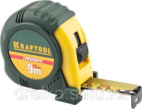 """Рулетка KRAFTOOL """"EXPERT"""" с нейлоновым покрытием, обрезин корпус, 9/25мм , фото 2"""