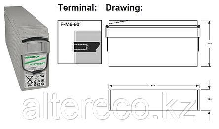 Фронттерминальный аккумулятор Marathon M12V190FT (12В, 190Ач), фото 2