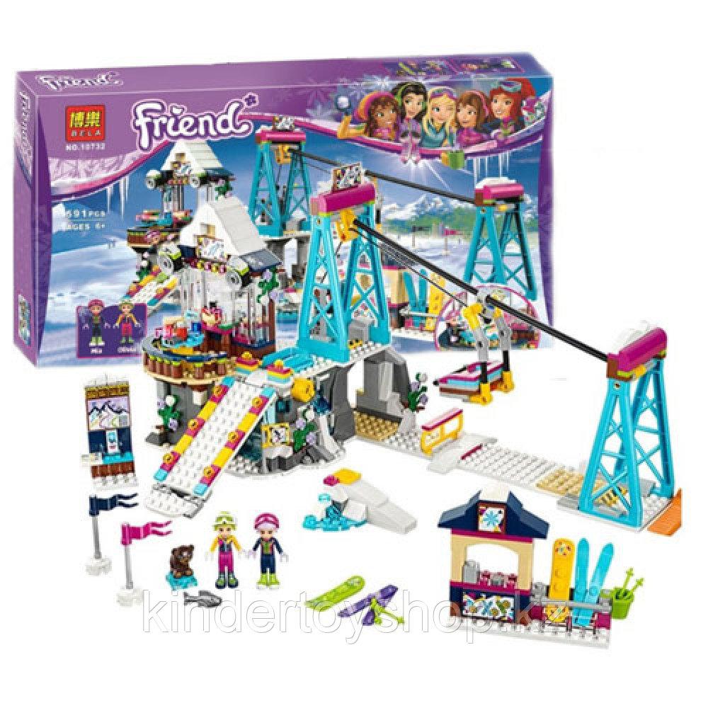Конструктор BELA Friends 10732 Горнолыжный курорт Подъемник Аналог Lego 41324