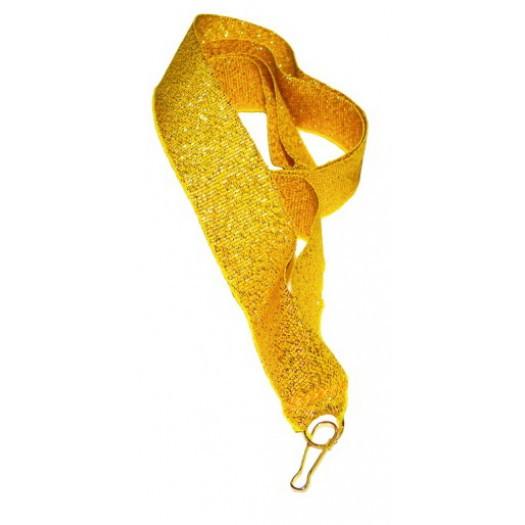 Лента с карабином для медали золотом 18мм