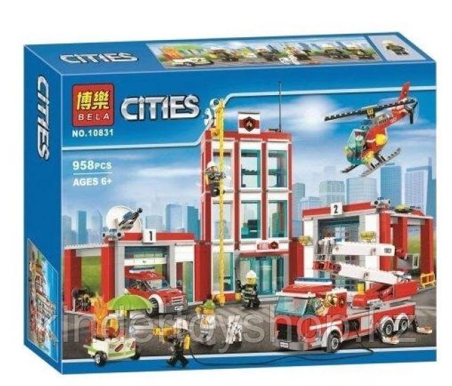 Конструктор BELA Cities 10831 Пожарная часть (Аналог LEGO City 60110) 958 дет