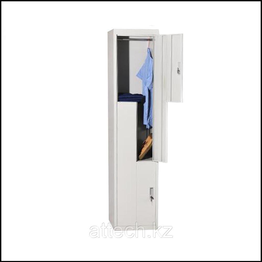 Двухдверный металлический шкафчик