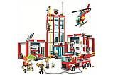 Конструктор BELA Cities 10831 Пожарная часть (Аналог LEGO City 60110) 958 дет, фото 2